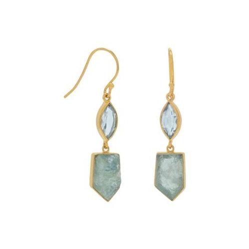 Blue Topaz and Aquamarine Earrings
