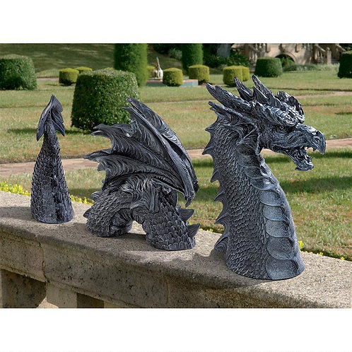 Dragon of Falkenberg Castle Moat Lawn Statue