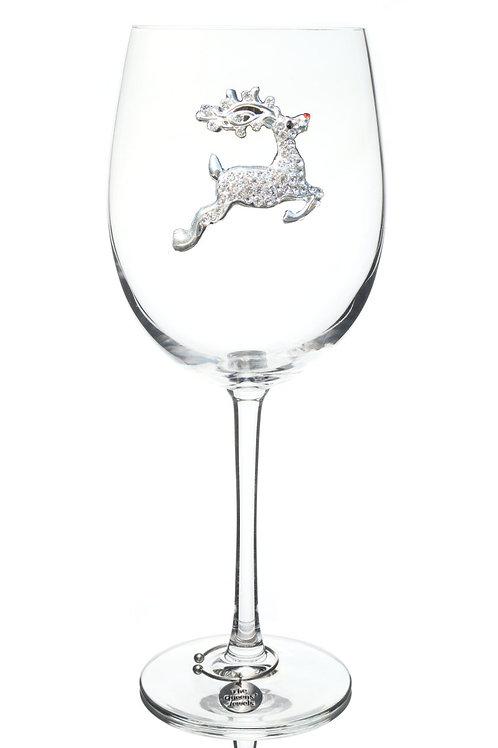 Reindeer Limited Edition Wine Glass, Stemmed