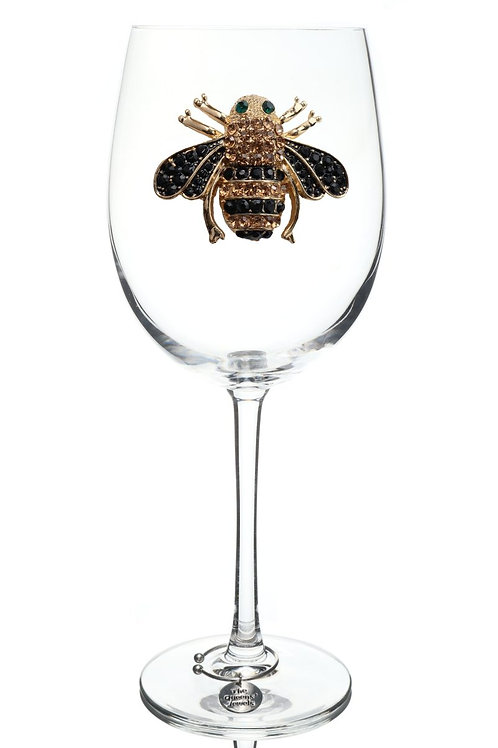Bee Wine Glass, Stemmed