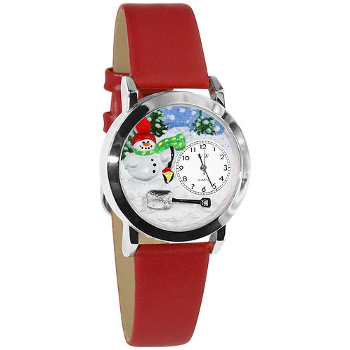 Snowman Watch-Small, Gold or Silver