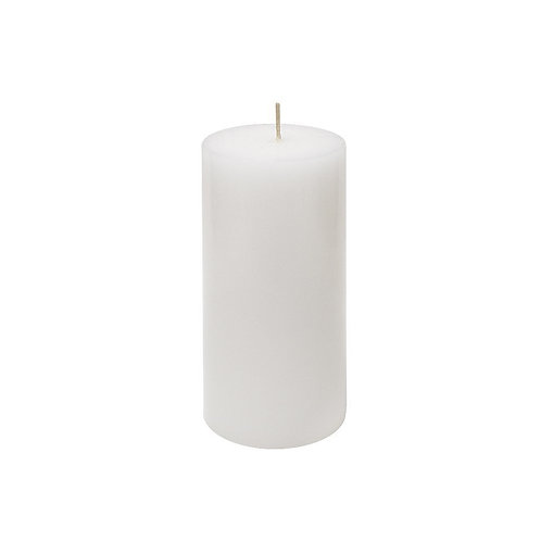 3 Unscented 3x6 Inch  White Pillar Candles