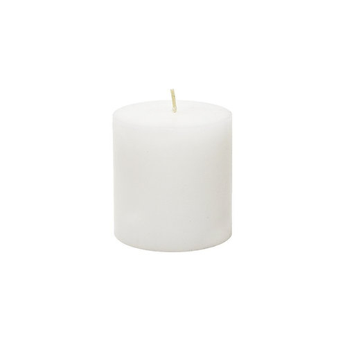 3 Unscented 3x3 Inch White Pillar Candles