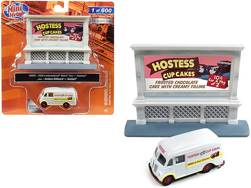 HO scale 1950 International Metro Van model with Hostess Billboard