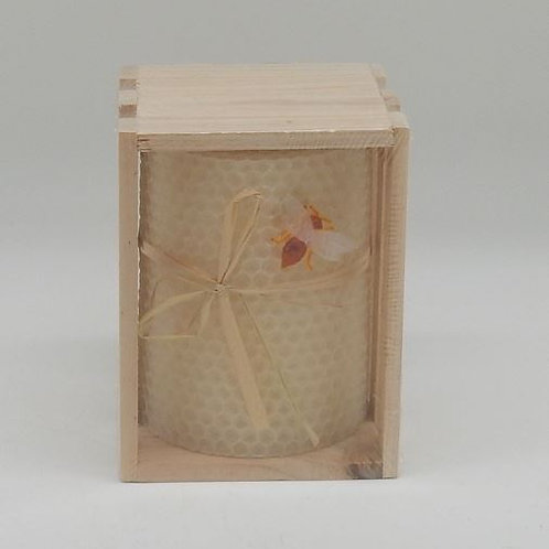 Bees Wax Honeycomb Pillar Candle