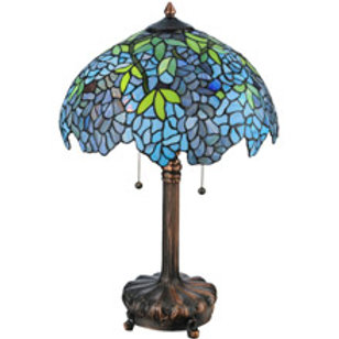 Tiffany Wisteria Design Stained Glass Table Lamp by Medya