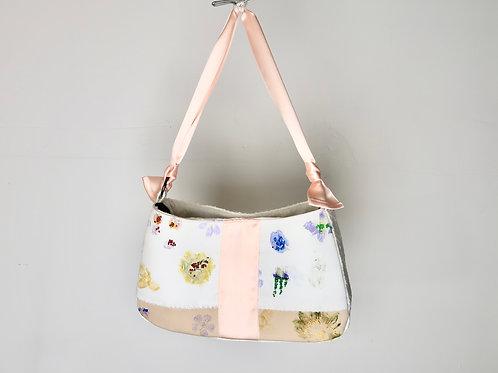 eco print patchwork Shoulder Bag
