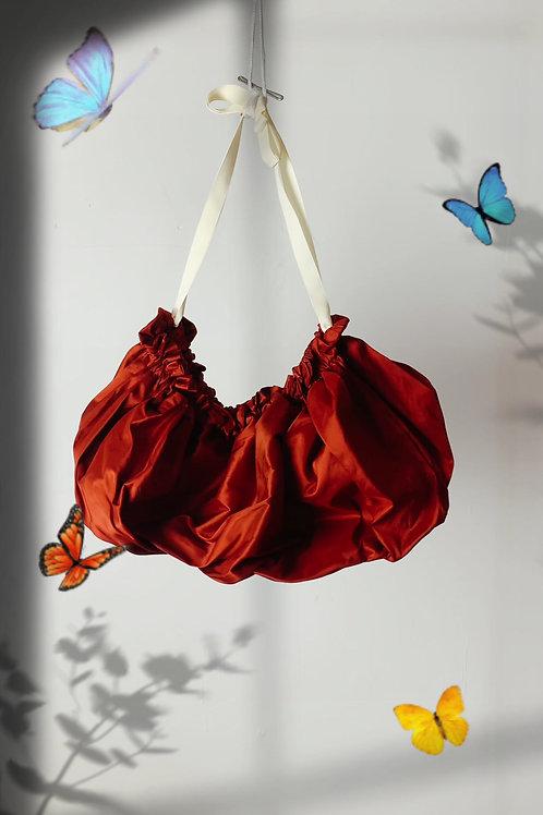 Silk Taffeta gathered shoulder bag