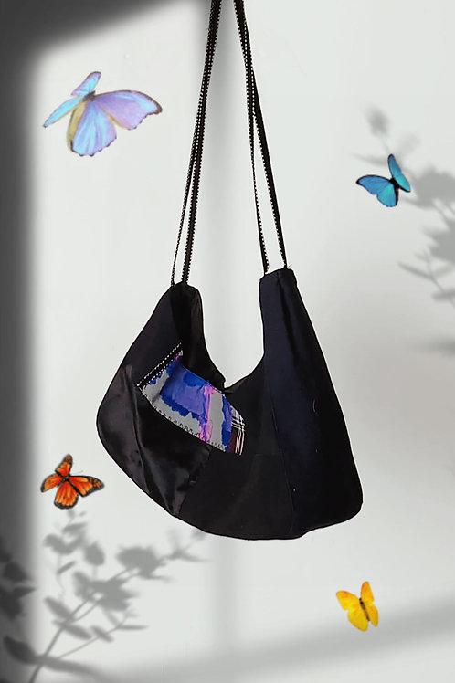 black Denim Shoulder Bag