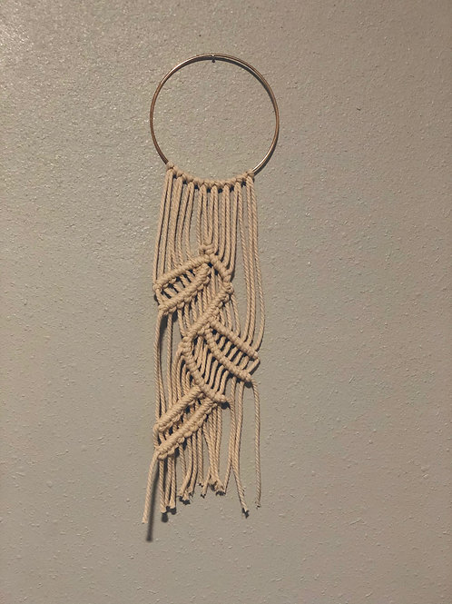 Small Wreath Macrame Wall Hanging
