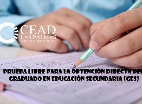 La prueba libre para la obtención directa del Graduado en Educación Secundaria se celebrará el 17/09