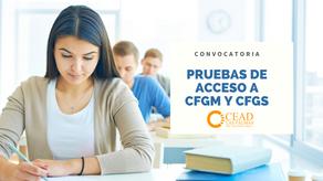 Inscripción en las pruebas de acceso grado medio y grado superior FP