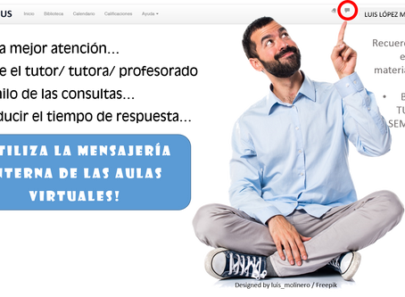 Utiliza la mensajería interna de las aulas virtuales