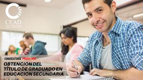 Inscripción en la prueba libre para obtener el Graduado en Educación Secundaria