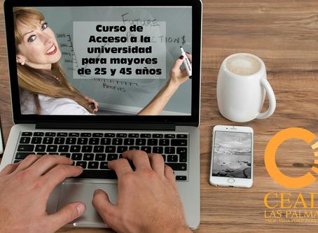 Presentación: Prueba de acceso a la universidad para mayores de 25 y 45 años