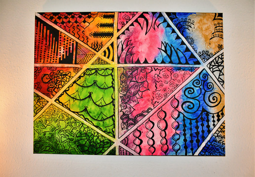 """""""Psychedelic Crossroads"""" 80x60 cm - price: 800 kr."""