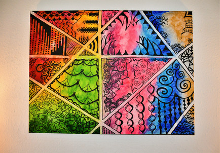 """Psychedelic Crossroads"" 80x60 cm - price: 800 kr."