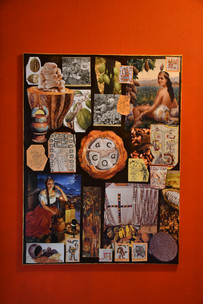 Cacao Collage, made from a Vintage magazine from Mexico - 80x60 cm - Original Collection