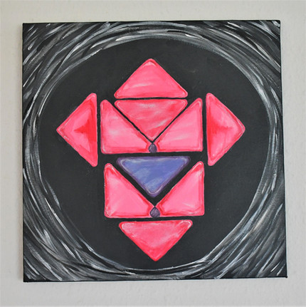 """Cubistic womb"" 30x30 cm - price: 300 kr."
