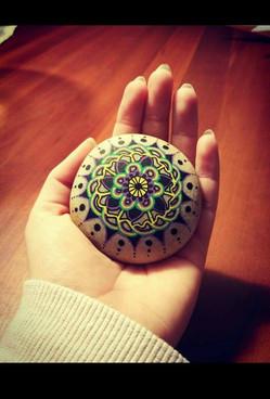 Mandala på en sten