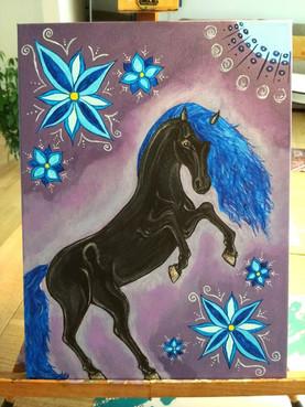 """""""Black Horse"""" - Bestillingsværk - solgt."""