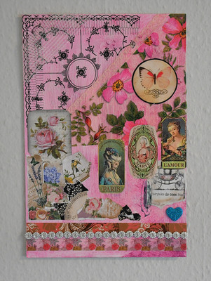 French Vintage Collage - 30x21 cm - Original Collection