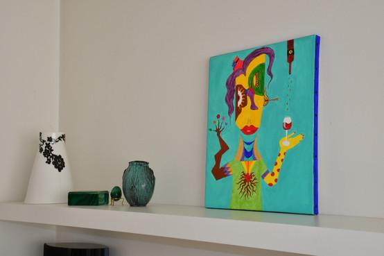 """""""Picassa"""" 40x30 cm - Solgt."""