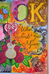 """When words fail, music speaks"" 50x40 cm - Original Collection"