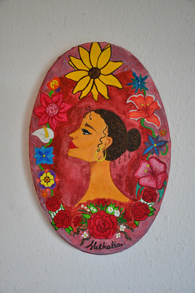 Latina Woman 30x20 cm - price: 250 kr.
