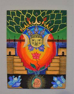 Mayan Moon Goddess - 40x30 cm - Original