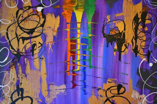 Coloured Rain 60x60 cm - price: 1000 kr.
