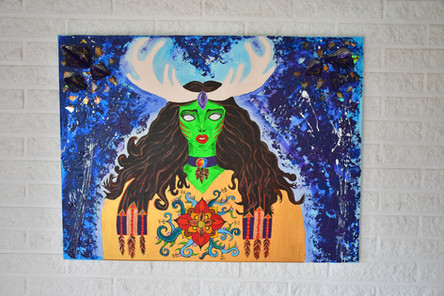 """""""Mother Earth Calling"""" 80x60 cm - price: 700 kr."""