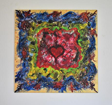 """Heart Splash"" 50x50 cm - price 500 kr."
