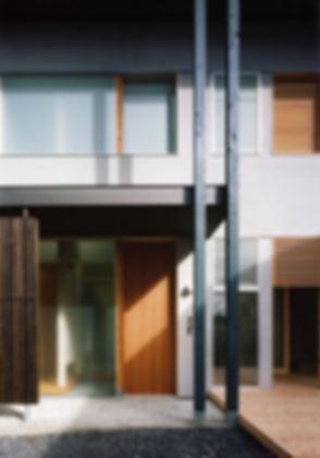 桜ヶ丘の家 新築 住宅 2階建 木造 京都府 綾部市 シンプル 和モダン 外観 玄関 関西 自然素材