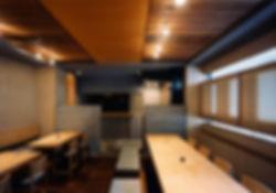 江戸堀 若木 改装 リノベーション リフォーム 店舗 蕎麦 1階・地下1階 RC コンクリート造 大阪府 大阪市 和モダン シンプル店内