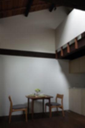 大心院の家 改装 リフォーム 住宅 町家 2階建 木造 京都府 京都市 シンプル 和モダン ダイニング 吹抜け