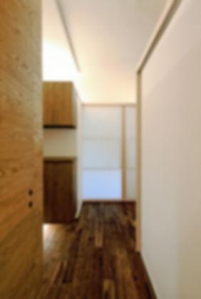 深江の家 改装 リノベーション リフォーム 住宅 マンション 1階 RC コンクリート造 兵庫県 神戸市 シンプル ナチュラル モダン 廊下 関西  自然素材 珪藻土