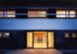 白川の家 新築 住宅 2階建 木造 大阪府 茨木市 シンプル 和モダン 外観 夜景