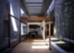 EShouse-02 新築 住宅 2階建て RC コンクリート造 木造 大阪府 大阪市 シンプル モダン ダイニング キッチン 中庭