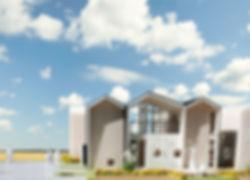 Wn 新築 分譲住宅 2階建 木造 兵庫県 明石市 シンプル モダン ナチュラル 街並み 外観