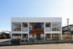 Domus Ishigaki 新築 共同住宅 アパート 2階建 RC コンクリート造 木造 大分県 別府市 シンプル モダン 外観 デザイナーズマンション