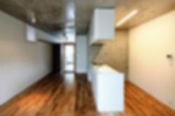 Domus Ishigaki 新築 集合住宅 アパート 2階建 RC コンクリート造 木造 大分県 別府市 シンプル モダン DK キッチン コンクリート打放し デザイナーズ