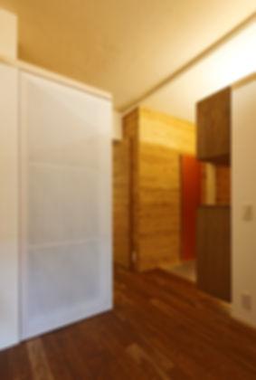 深江の家 改装 リノベーション リフォーム 住宅 マンション 1階 RC コンクリート造 兵庫県 神戸市 シンプル ナチュラル モダン 廊下 関西  自然素材 壁に木板張り
