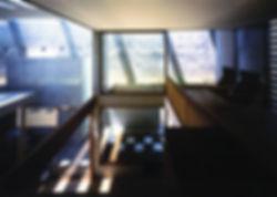 EShouse-02 新築 住宅 2階建て RC コンクリート造 木造 大阪府 大阪市 シンプル モダン リビング 吹抜け 庭