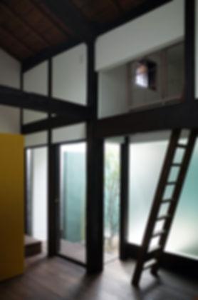 大心院の家 改装 リノベーション リフォーム 住宅 町家 2階建 木造 関西 京都府 京都市 シンプル 和モダン 庭 ロフト