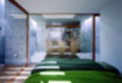 EShouse-02 新築 住宅 2階建て RC コンクリート造 木造 大阪府 大阪市 シンプル モダン 天窓 トップライト 寝室 中庭
