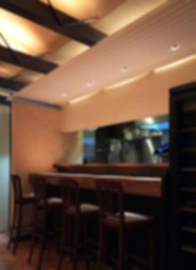 Luna Piena 改装 リノベーション リフォーム 店舗 飲食店 地下1階 RC コンクリート造 大阪府 茨木市 シンプル カウンター 店内