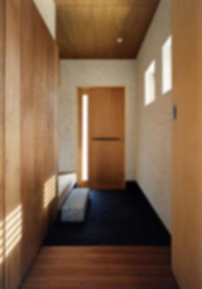 白川の家 新築 住宅 2階建 木造 大阪府 茨木市 シンプル 和モダン 玄関