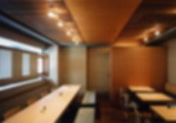 江戸堀 若木 改装 リノベーション リフォーム 店舗 蕎麦 1階・地下1階 RC コンクリート造 大阪府 大阪市 シンプル 和モダン内観
