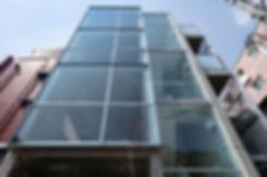 AO bldg. 新築 ビル 住宅 4階建 RC コンクリート造  コンクリート打放し 関西 兵庫県 芦屋市 外観 シンプル モダン
